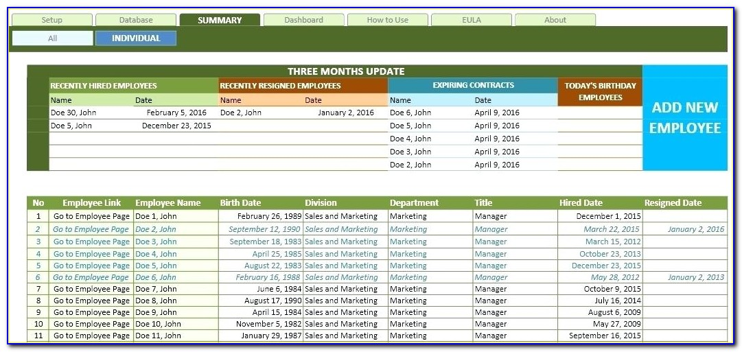 Customer Database Template Excel 2007