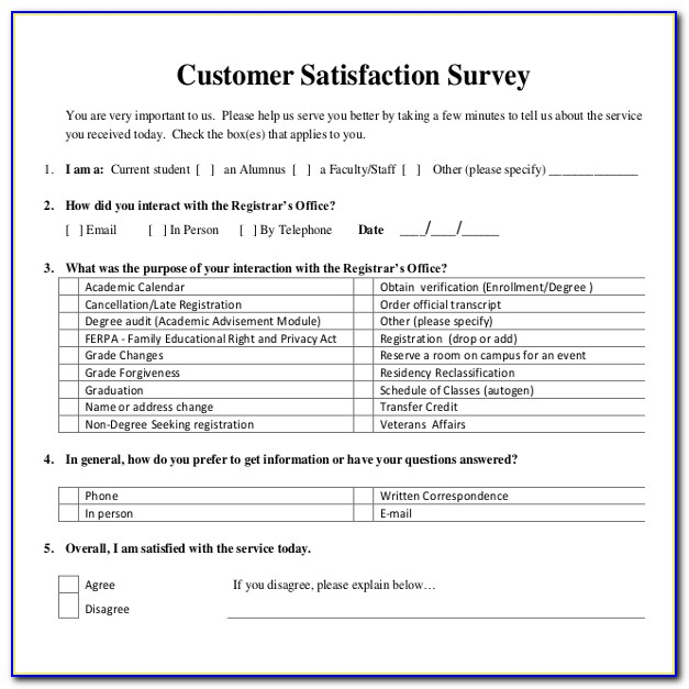 10+ Customer Satisfaction Survey Templates – Free Sample, Example With Regard To Customer Survey Template
