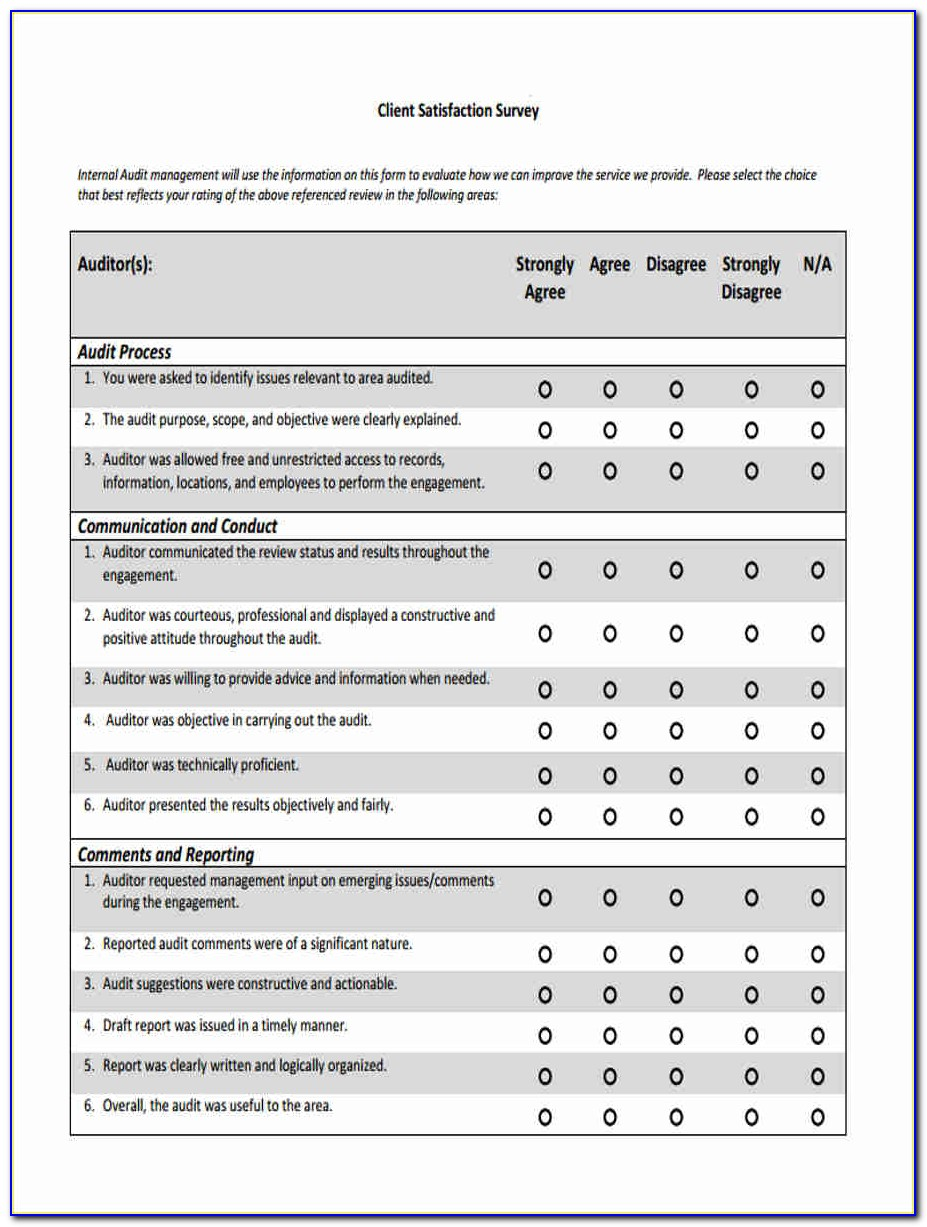 Customer Satisfaction Survey Form Doc