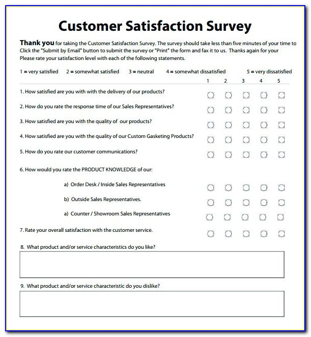 Customer Satisfaction Survey Templates