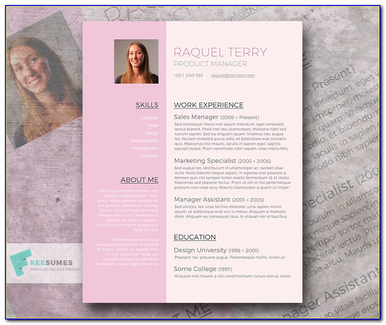 Cute Resume Templates Free