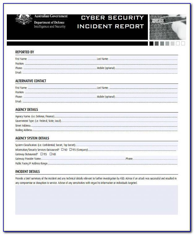 Cyber Security Incident Reporting Form