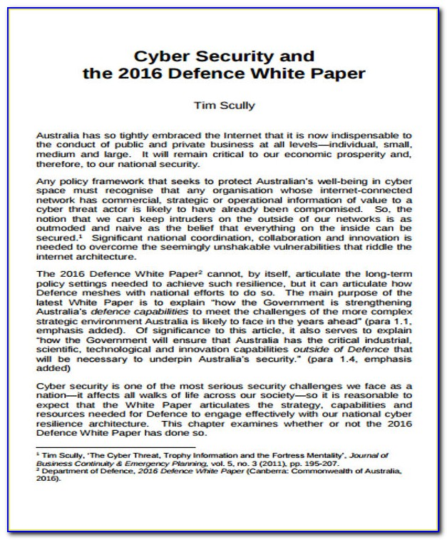 Cyber Security Strategy Template Doc
