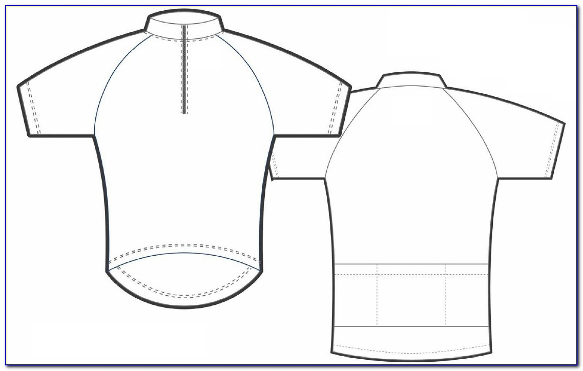 Cycling Jersey Design Template Illustrator