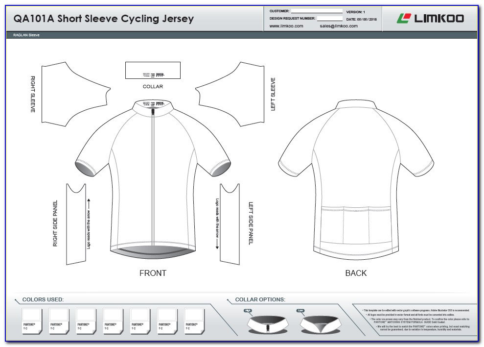 Cycling Jersey Design Template Vector