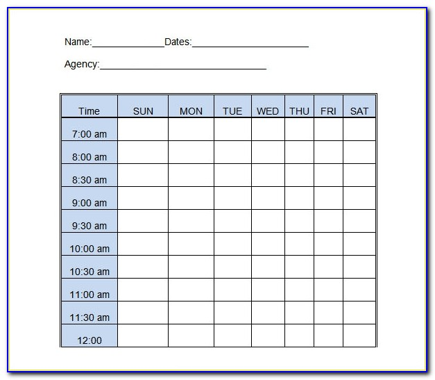 Daily Occurrence Log Book Template