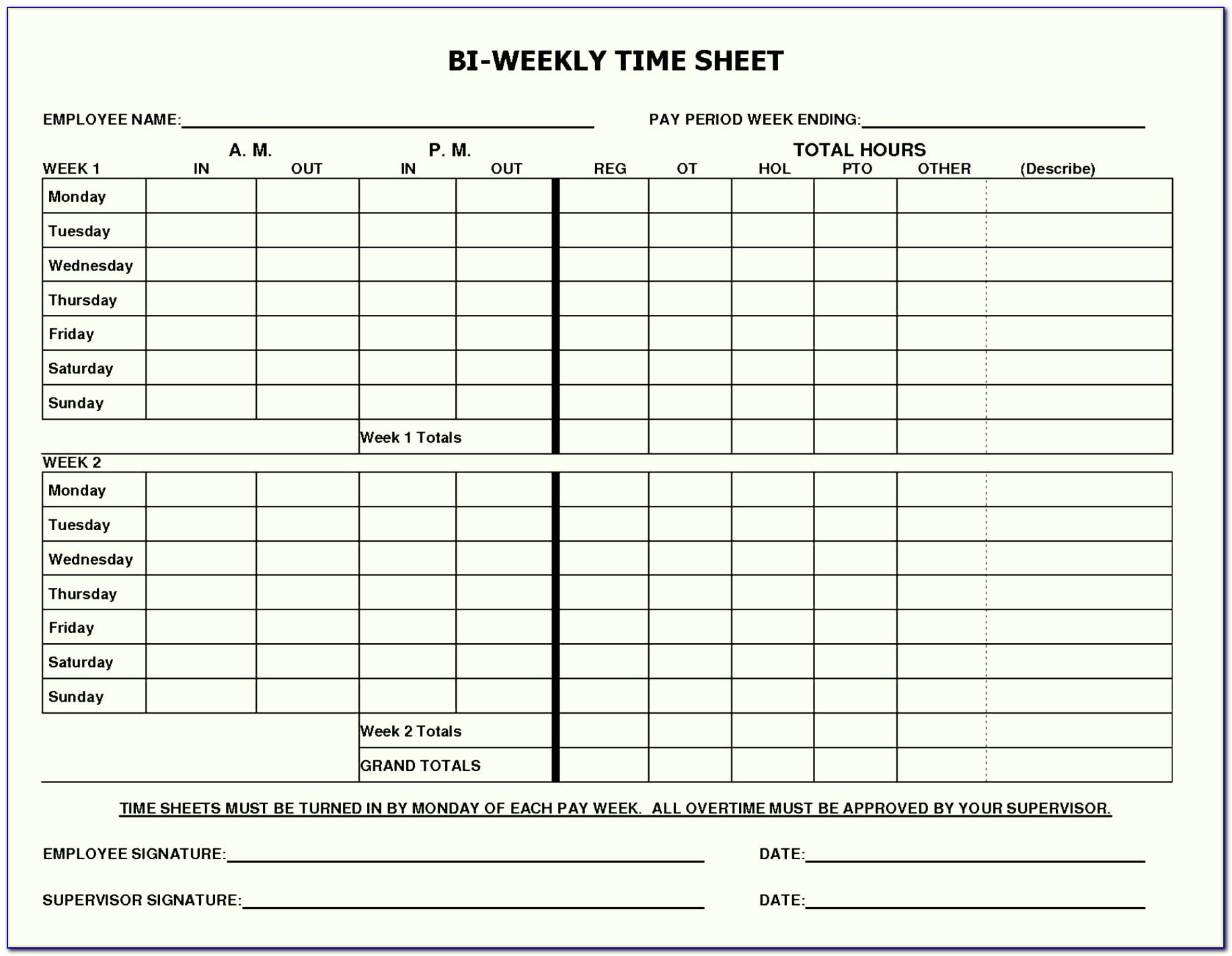 Daily Timesheet Template Excel With Tasks