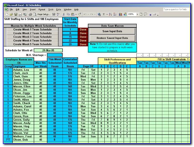 Daily Work Schedule Template Excel 2013