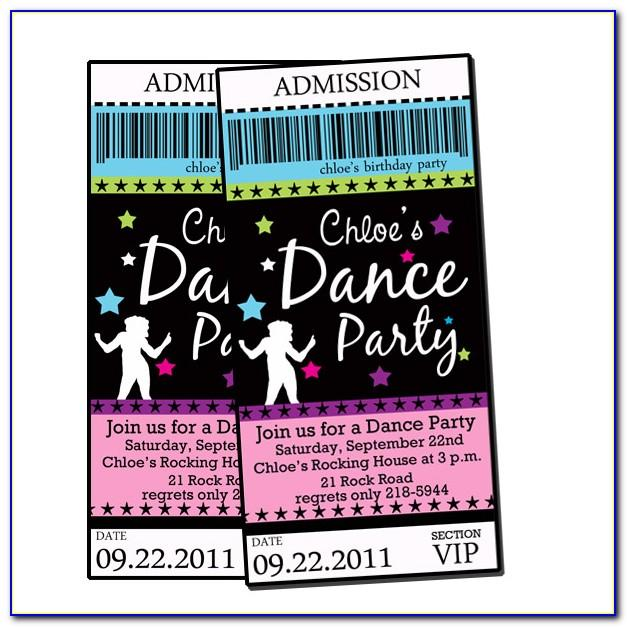 Dance Party Invitations Templates Free