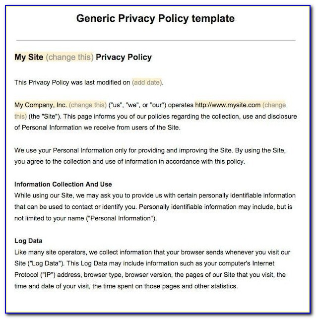 Data Privacy Policy Sample