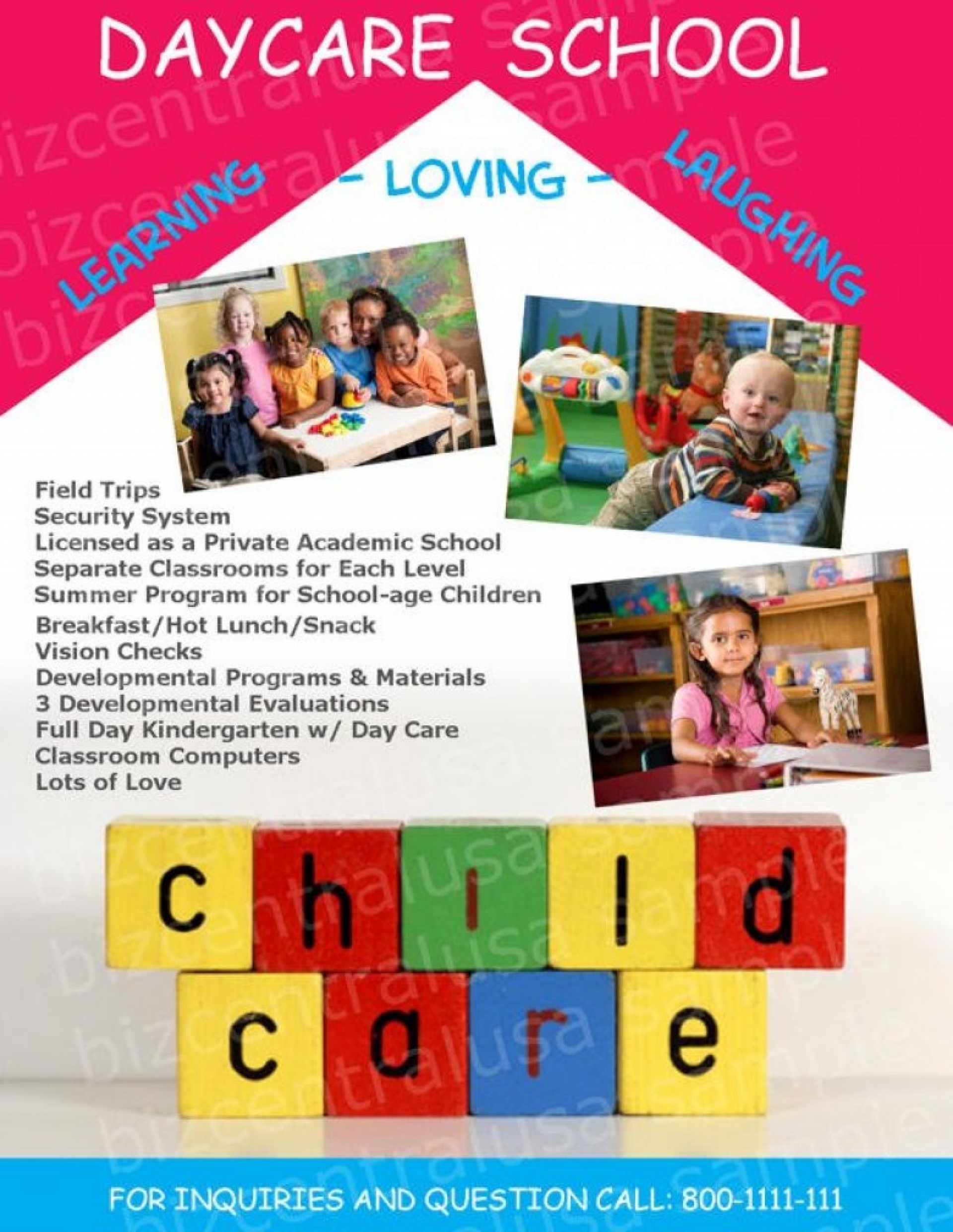 Daycare Flyer Templates Free Download