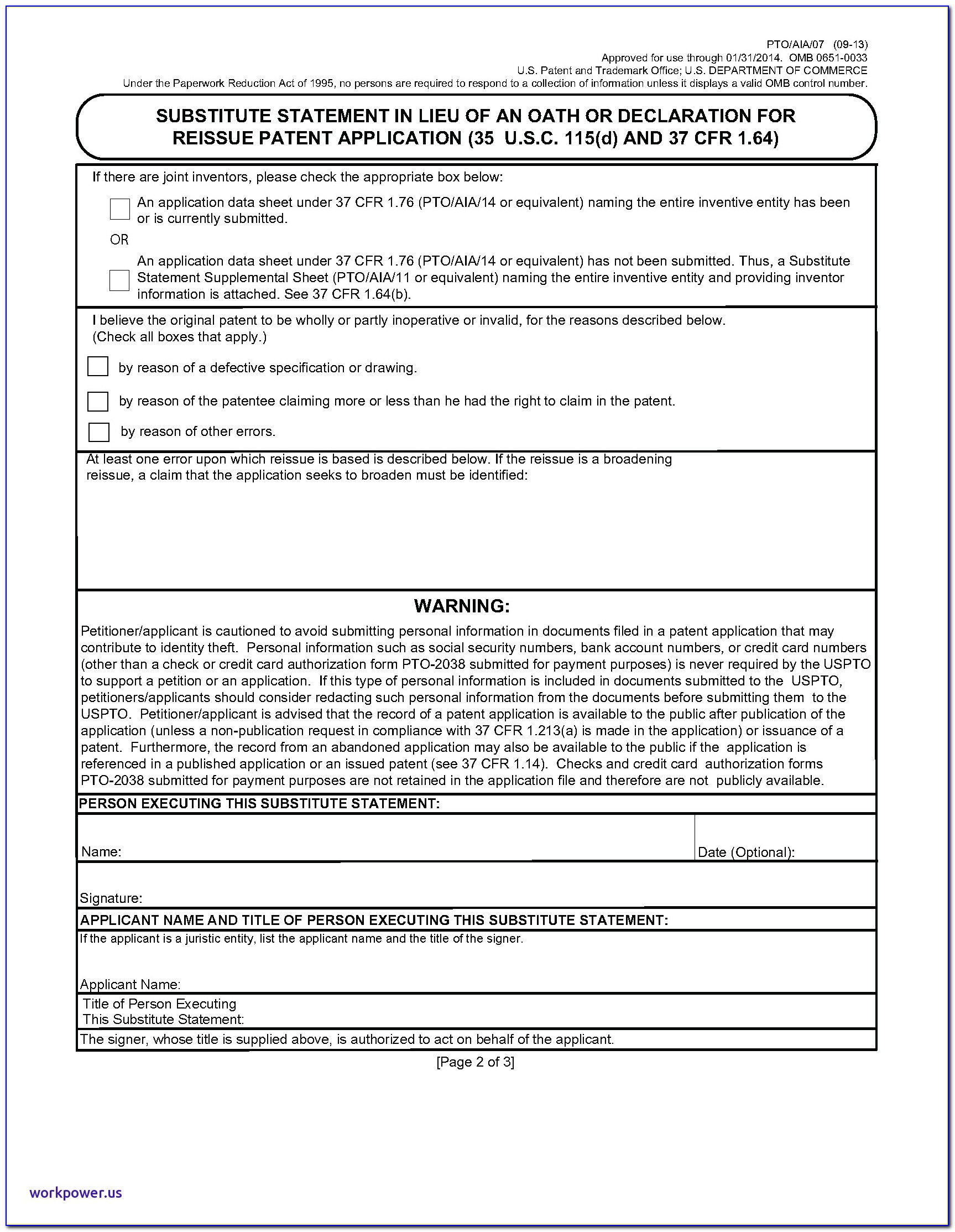 Provisional Patent Template Luxury Chapter 600 Parts Form And Content Application Fpo Resources
