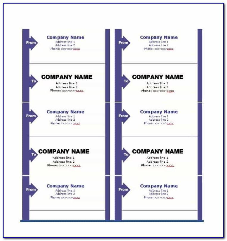 Delivery Address Label Template