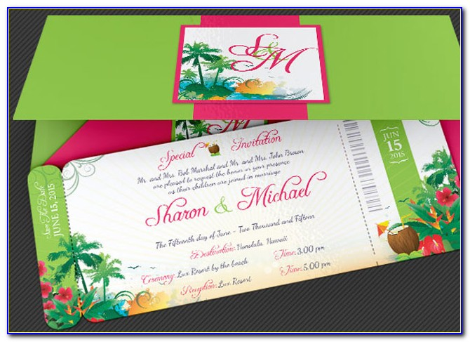 Destination Wedding Boarding Pass Template