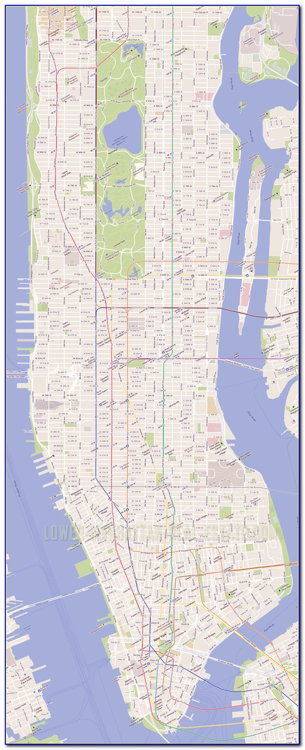 Detailed Map Of Nyc Subway