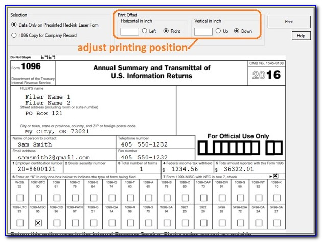 Difference Between 1096 And 1099 Forms