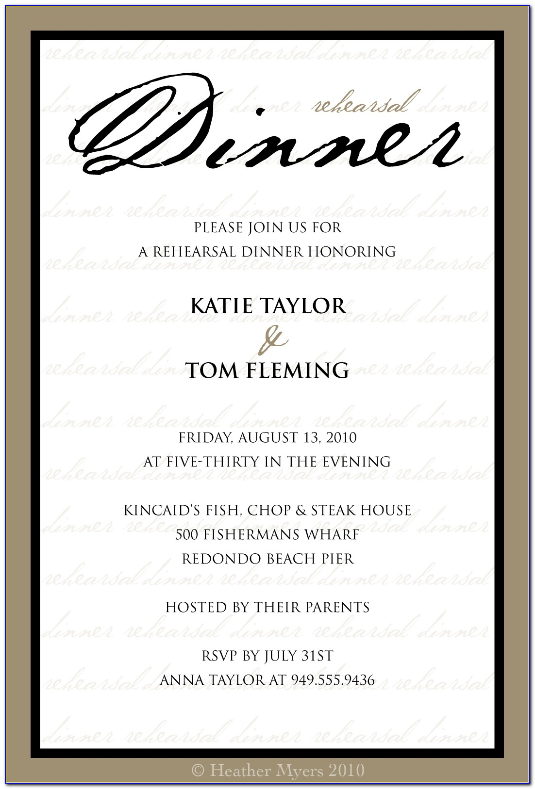 Dinner Invitation Template Ppt  vincegray5