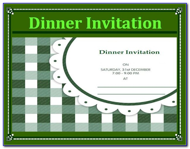 Dinner Invitation Wording Samples