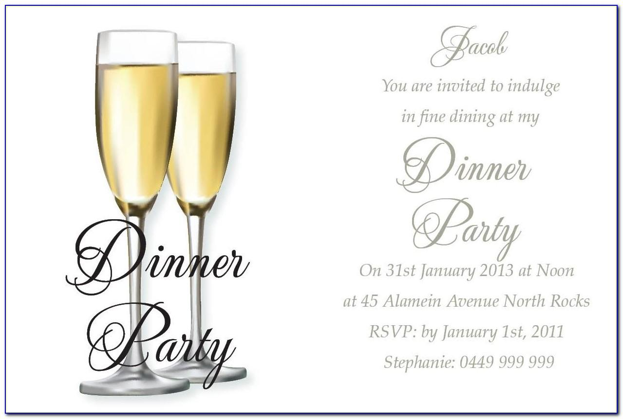Dinner Party Invitation Templates Free Download