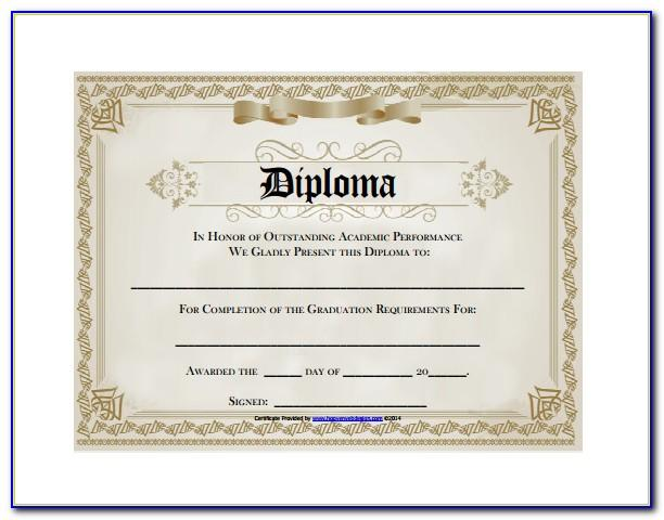 Diploma Certificate Template Free Download