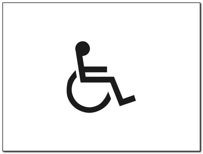 Disabled Parking Logo Autocad Template