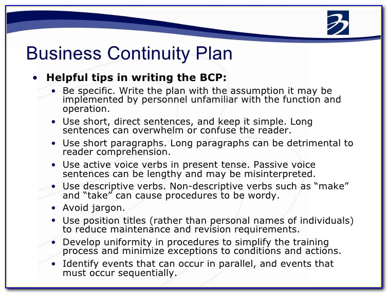 Disaster Recovery Plan Business Continuity Template Word Pdf