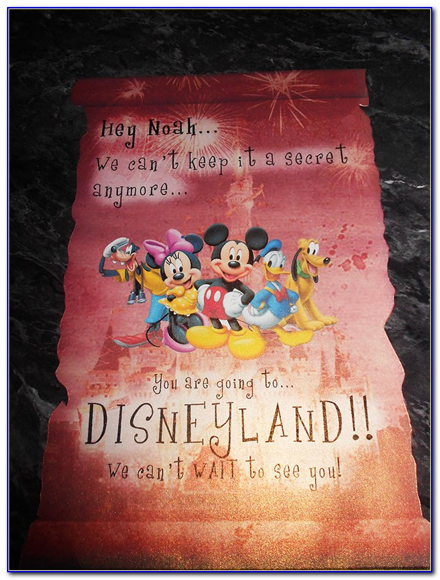 Disneyland Invite Template