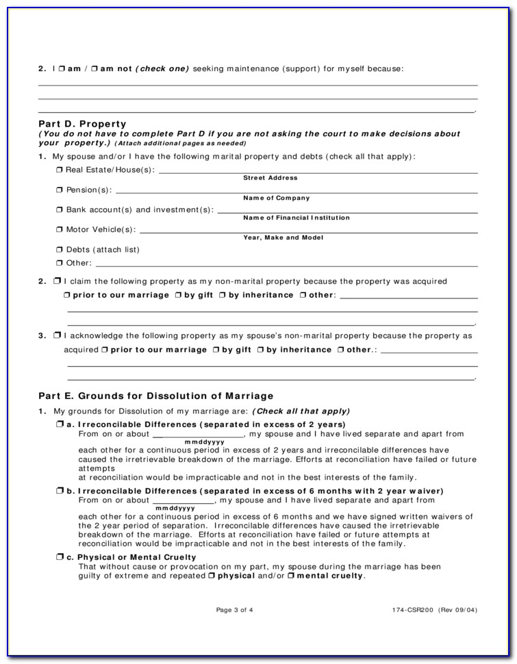 Dissolution Of Marriage Butler County Ohio Forms