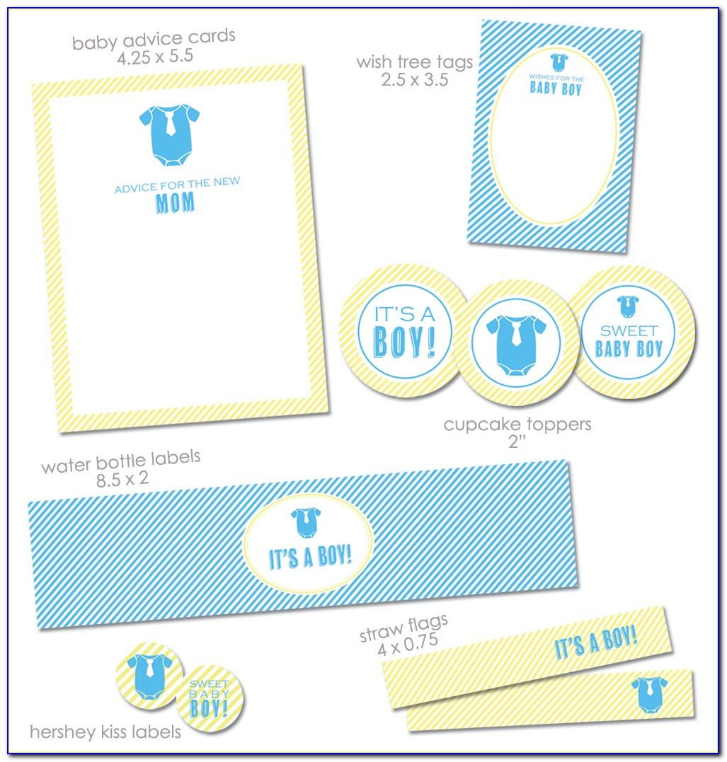 Diy Baby Shower Water Bottle Labels Template