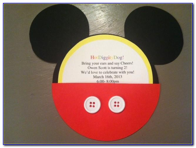 Diy Mickey Mouse Invitations Template