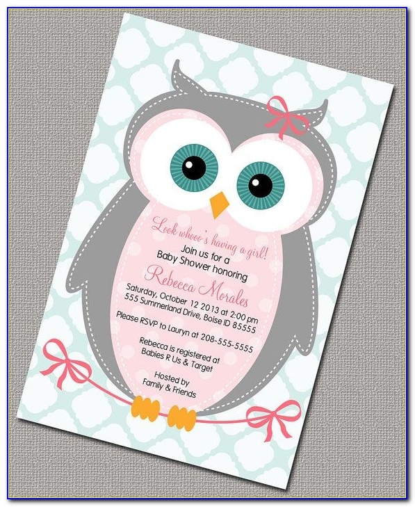 Diy Owl Invitation Template Free