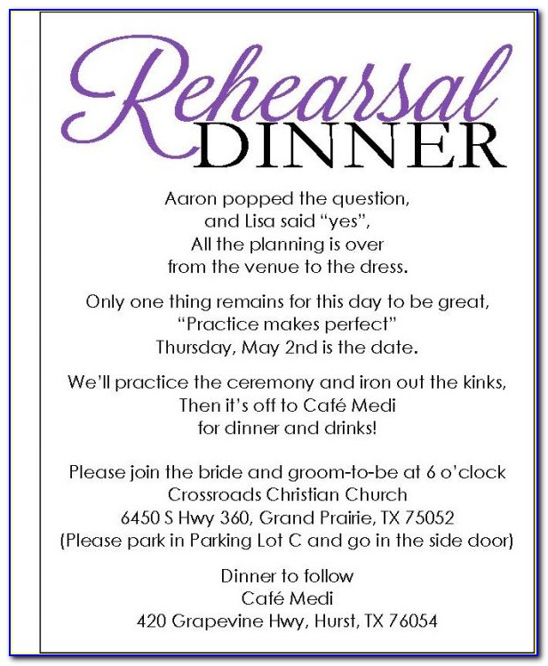 Diy Rehearsal Dinner Invitations Templates