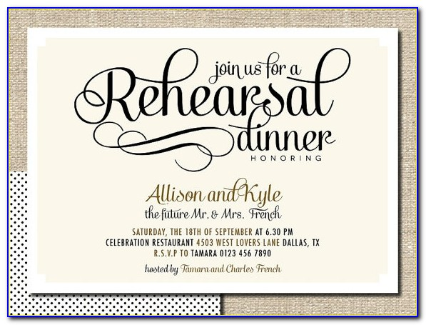 Diy Rehearsal Dinner Invitations