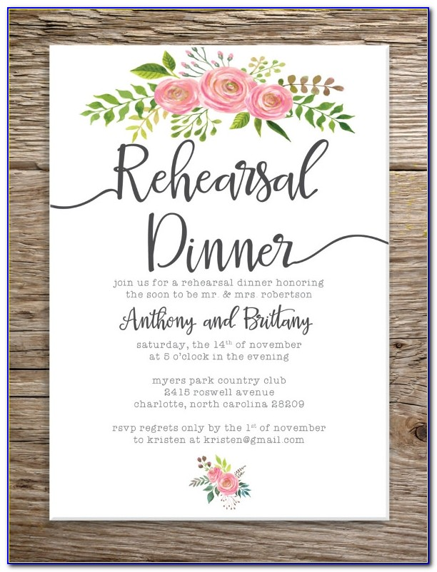 Diy Rehearsal Dinner Invites