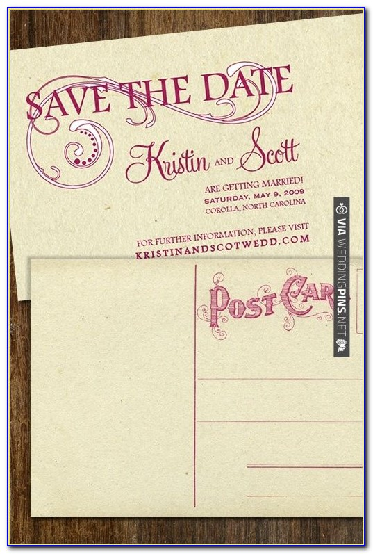 Diy Save The Date Postcard Templates Free
