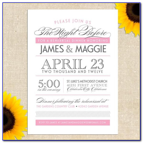 Diy Wedding Rehearsal Dinner Invitations