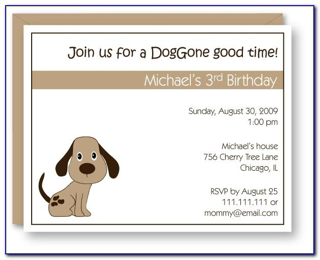 Dog Party Invitations Template