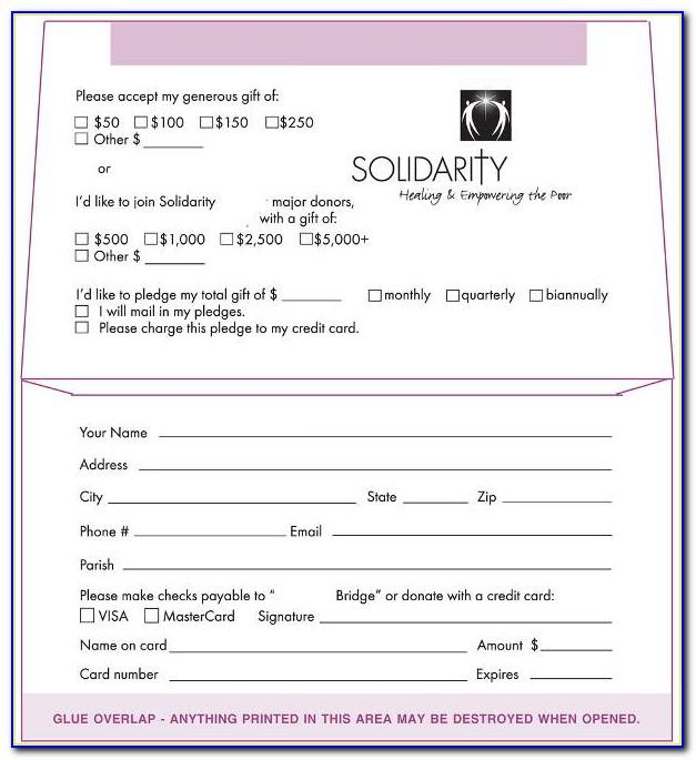 Donation Envelope Template Free