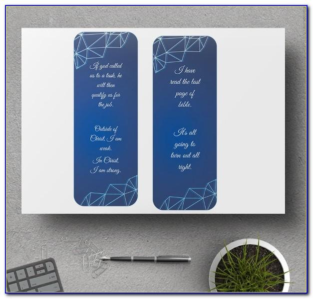 Double Sided Bookmark Template Free