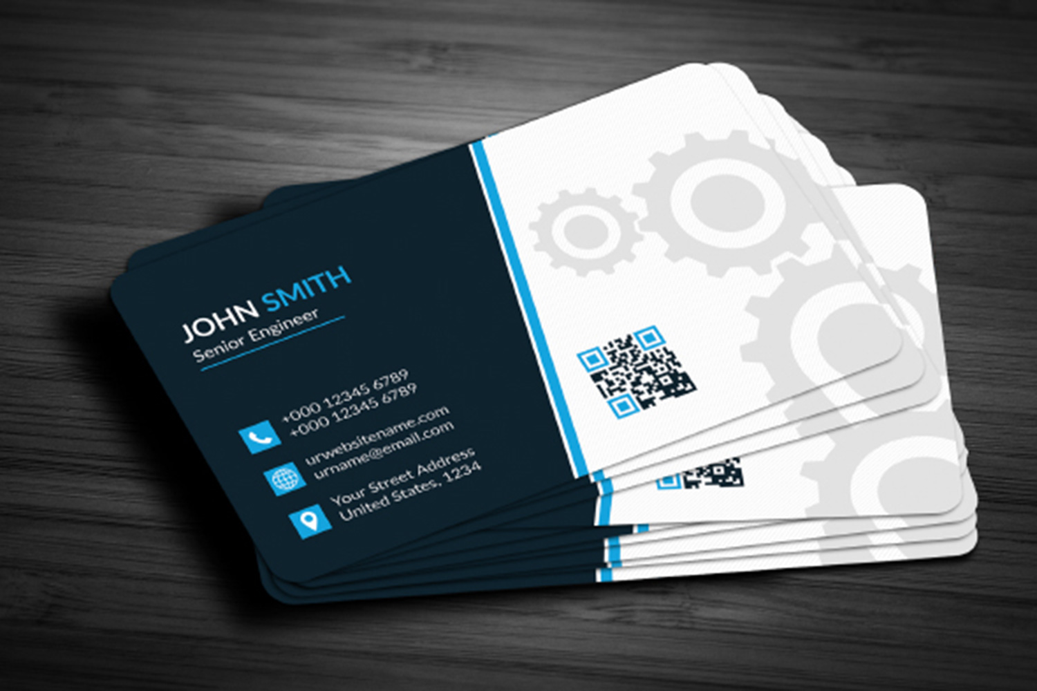 Double Sided Business Card Template Free Download Word
