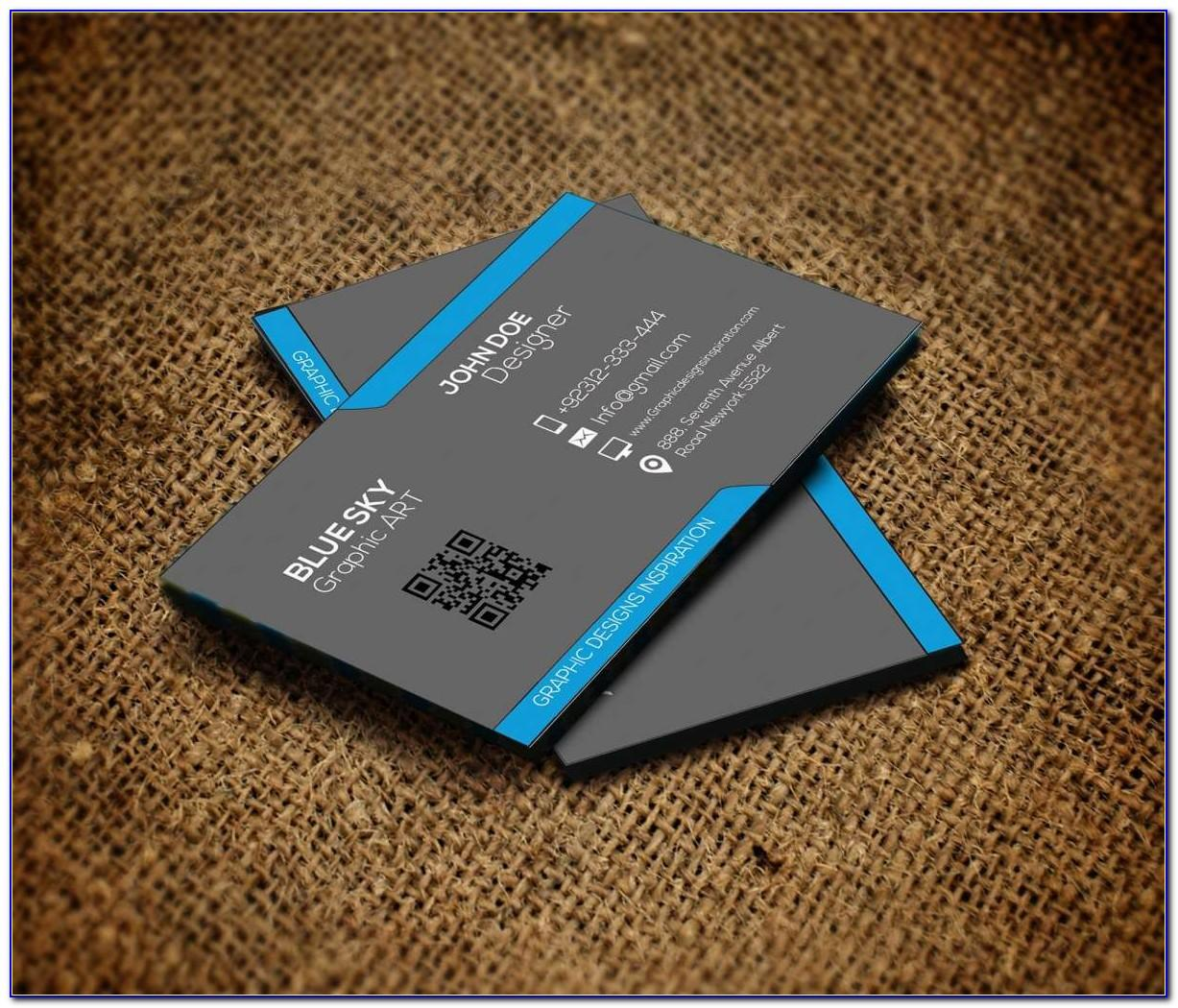 Double Sided Business Cards Template Word Free
