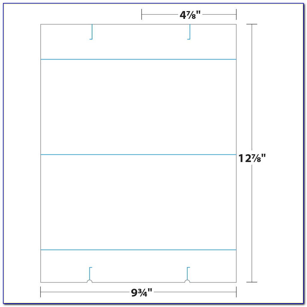 Double Sided Large Tent Card Template