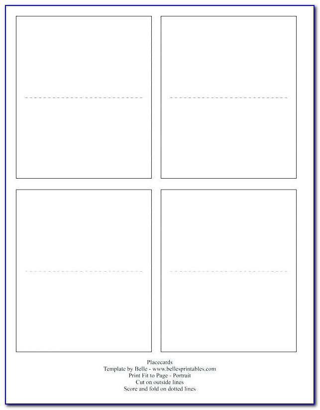 Double Sided Name Tent Template Powerpoint