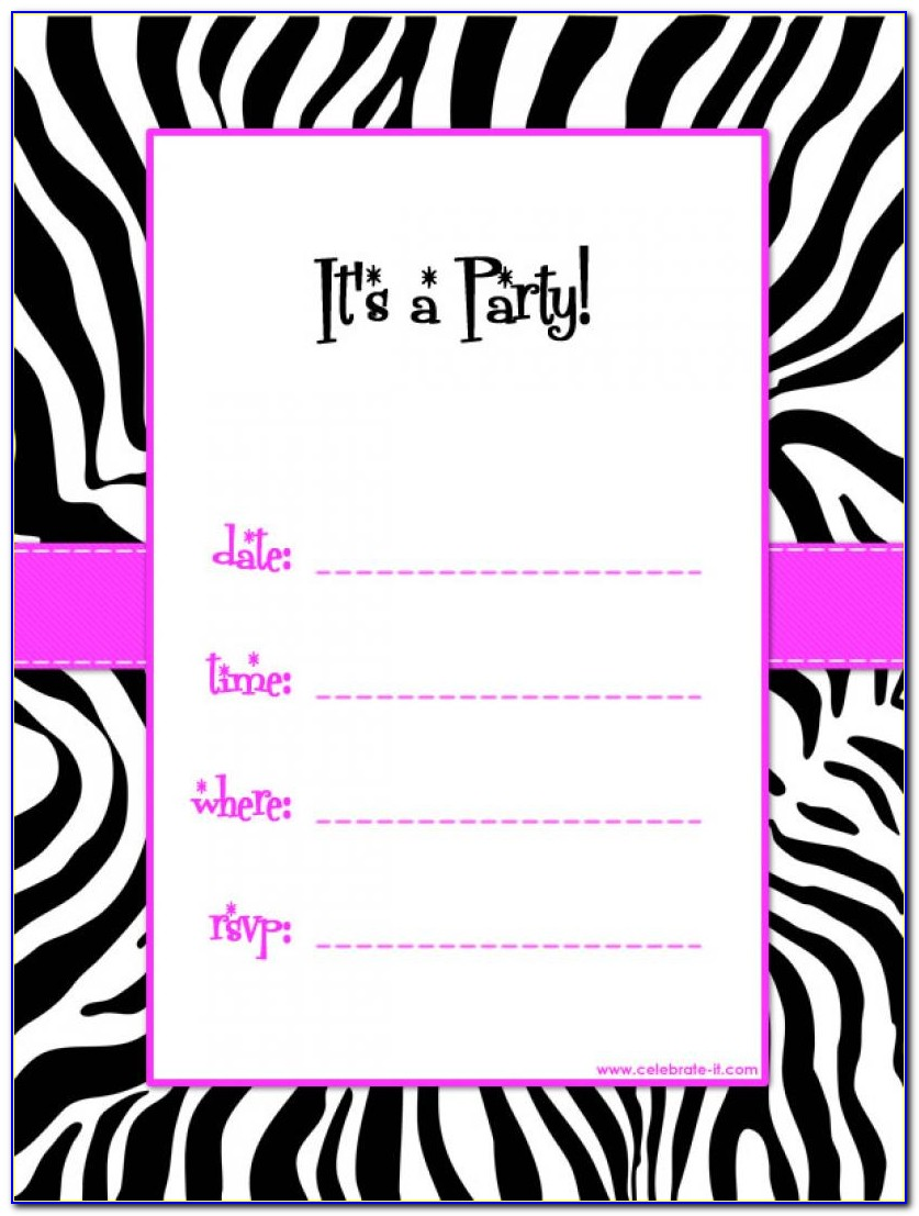 Download Birthday Party Invitation Templates Free