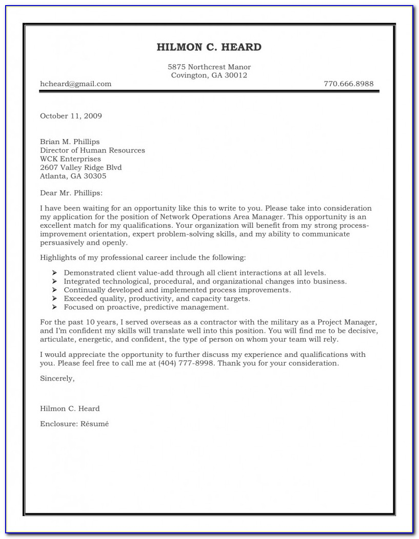 Download Free Cover Letter Templates Word