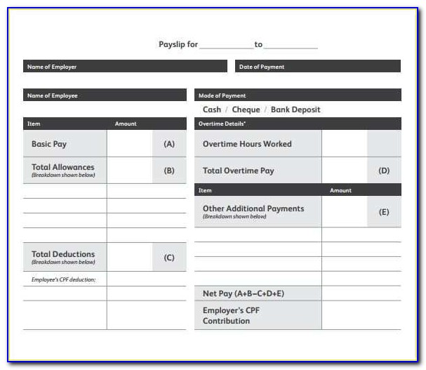 Download Free Payslip Template Excel South Africa