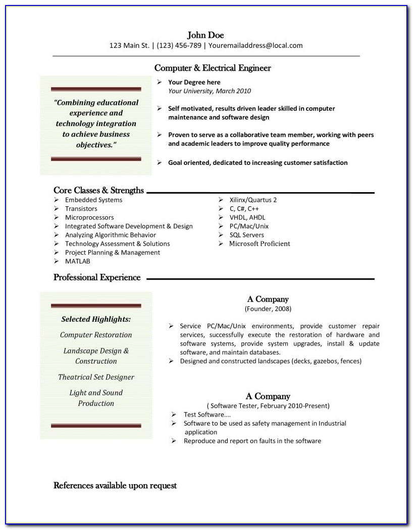 Download Free Resume Templates For Mac Pages