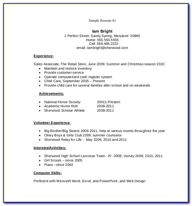 Download Resume Format Pdf Free