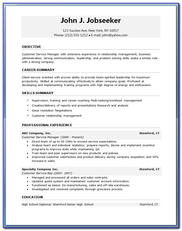 Download Resume Templates For Engineering