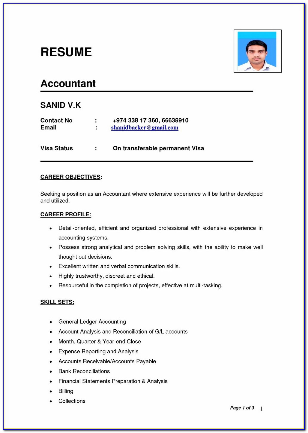 Download Resume Templates In Word Format
